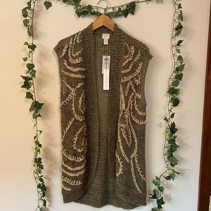 NWT Chico's Grey Sweater M